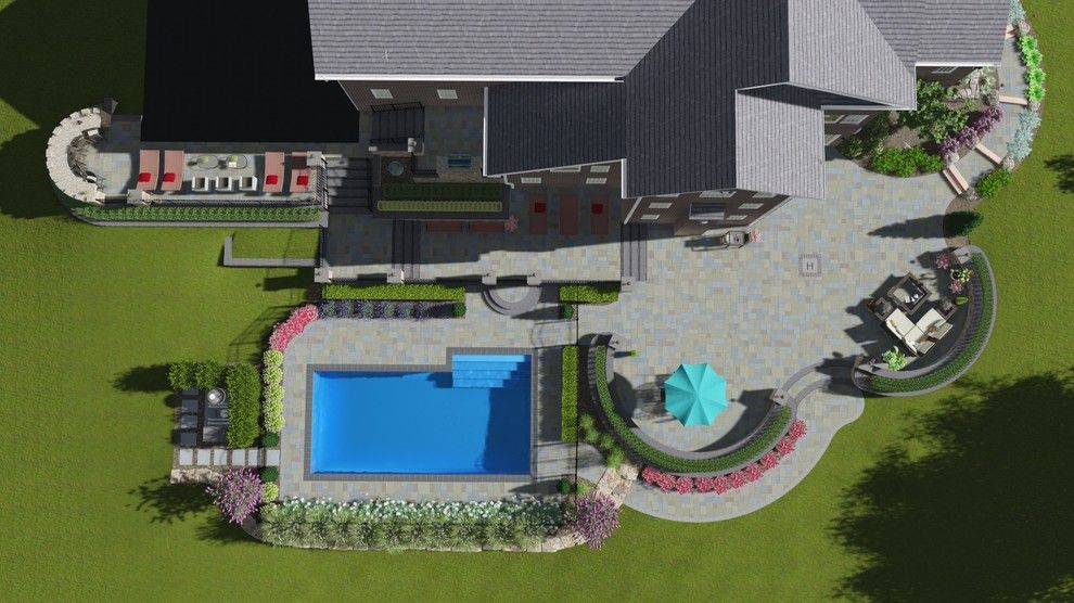 Clearstory for a Traditional Spaces with a Clearstory Imaging and Large Multi Level Patio and Pool, Nj   3d Imaging by Clearstory Imaging