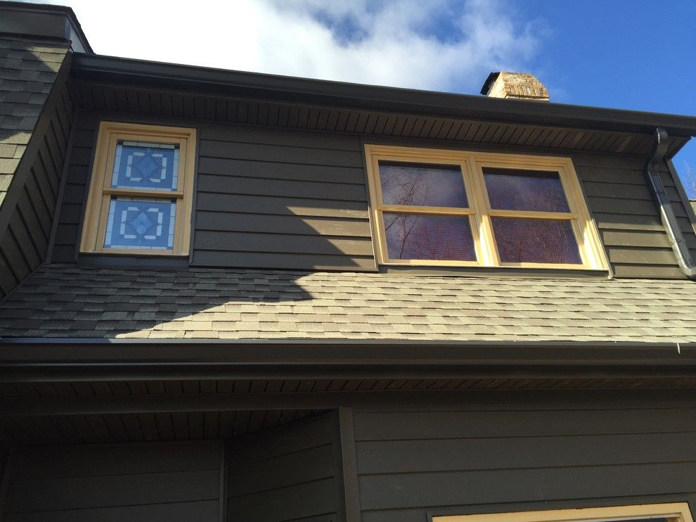 Clearview Windows for a Rustic Exterior with a St Louis Exterior and Insulated Wide Lap Vinyl Siding System   Chesterfield, Mo by Clearview Windows and Siding