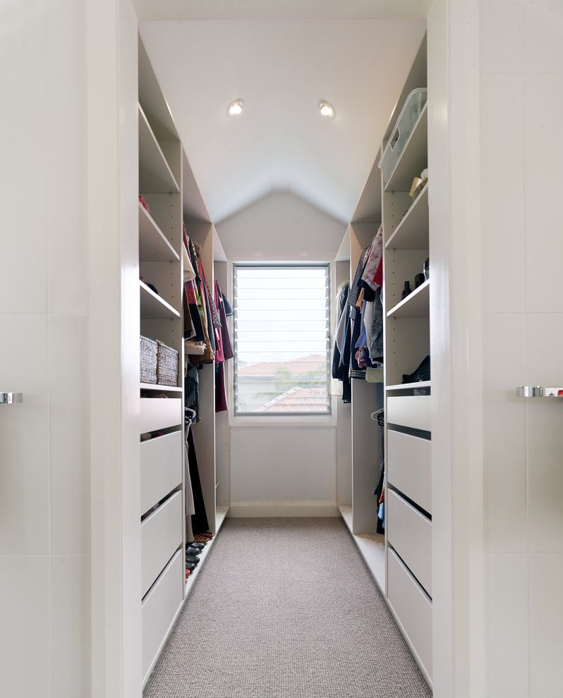 Closest Lowes for a Contemporary Closet with a Walk in Wardrobe and Queenscliff House by Annabelle Chapman Architect Pty Ltd