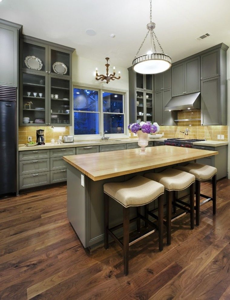 Closest Lowes for a Traditional Kitchen with a Dark Floor and Kitchen Ii by Soledad Builders, Llc
