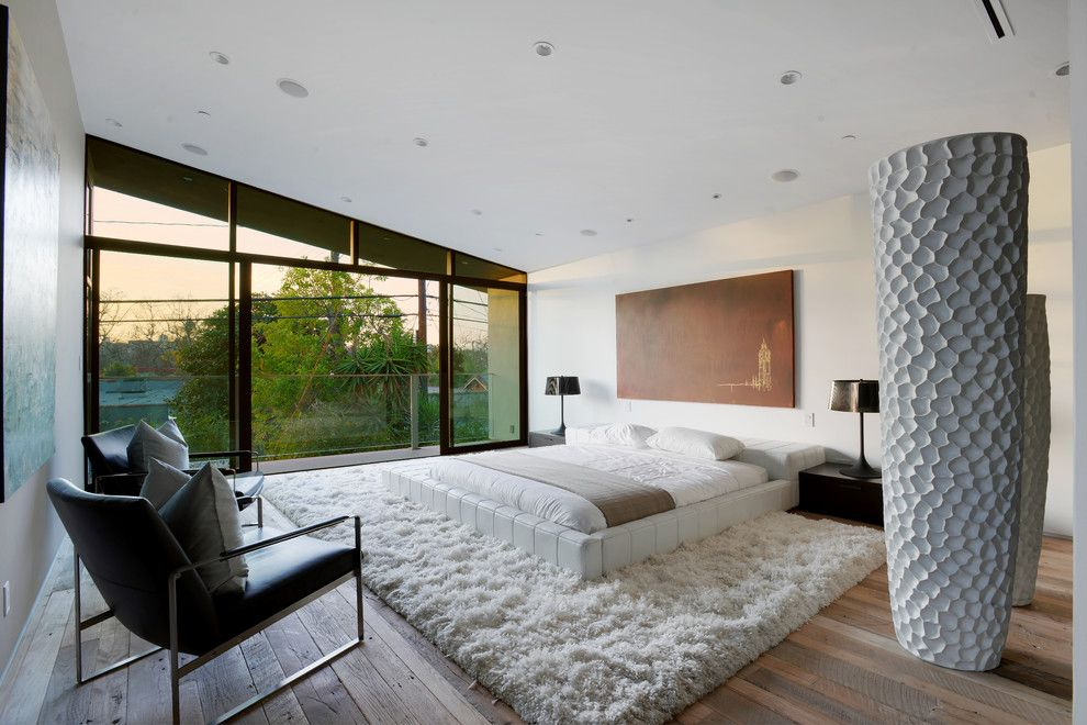 Cmc Construction Services for a Contemporary Bedroom with a Brown Wall Art and Mansfield Residence in Los Angeles by Hillstar Construction Services