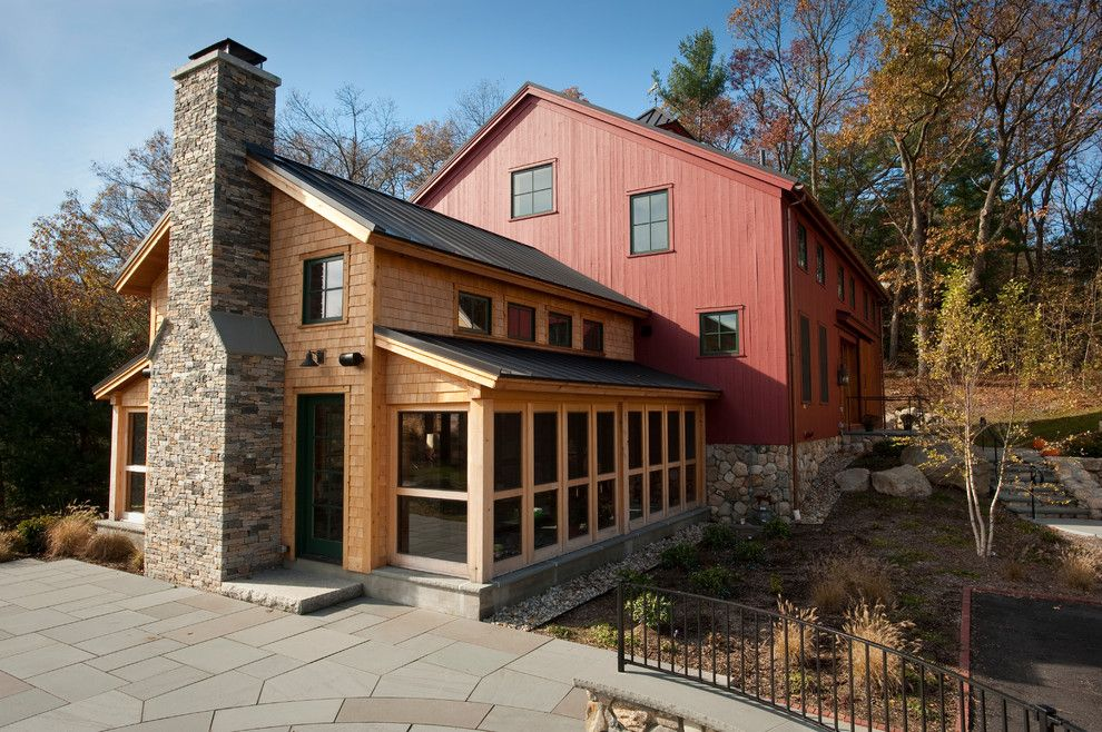 Cmc Construction Services for a Traditional Exterior with a Red Siding and New Barn   Recreational Building Construction by Landmark Services Inc