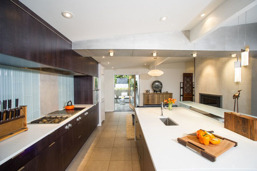 Coastal Kitchen Seattle for a Contemporary Kitchen with a Tile Floor and Kitchen by Bristol Design and Construction Llc