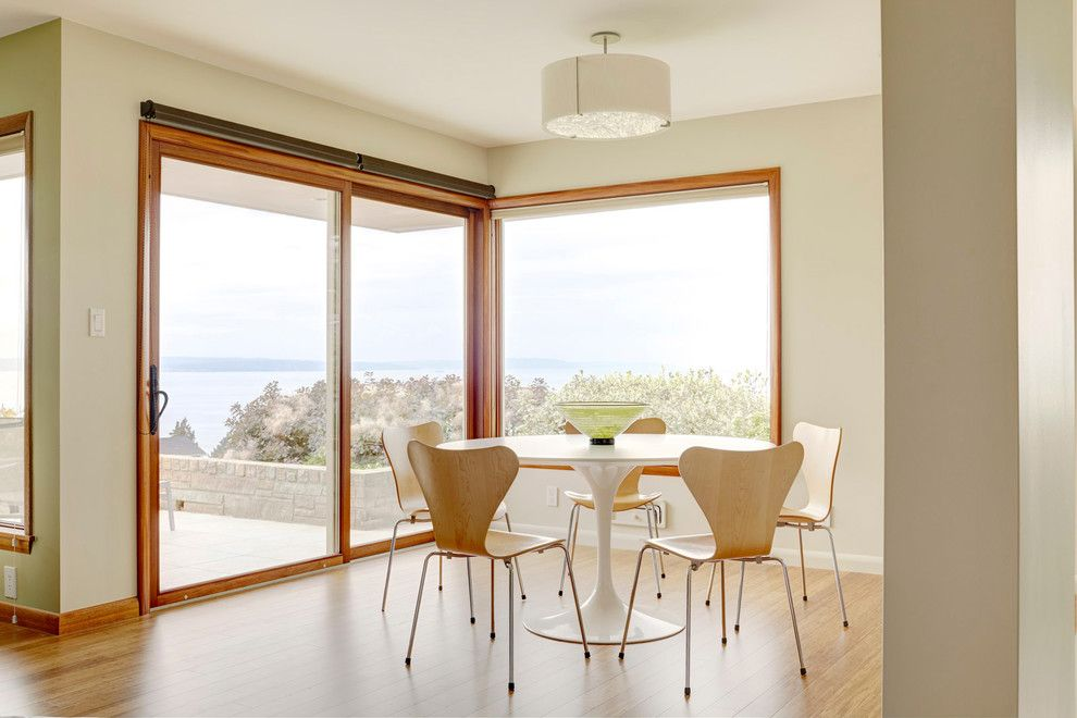 Coastal Kitchen Seattle for a Midcentury Dining Room with a Indoor Outdoor Living and North Beach Seattle by Abita Studio Architecture + Design