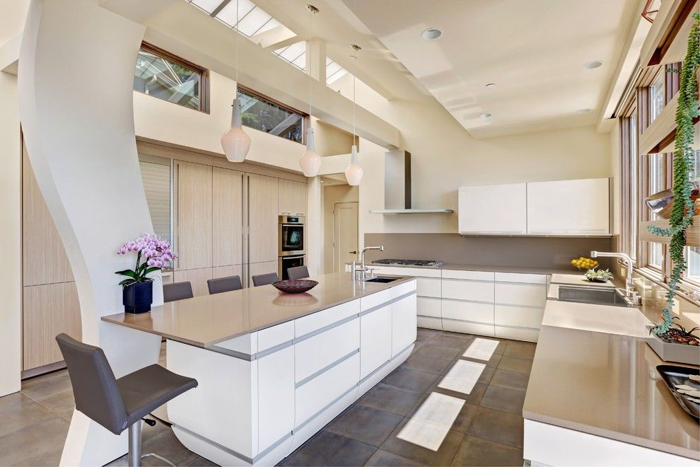 Coastline Realty for a Contemporary Kitchen with a Columns and Stinson Beach Modern Retreat by Decker Bullock Sotheby's International Realty