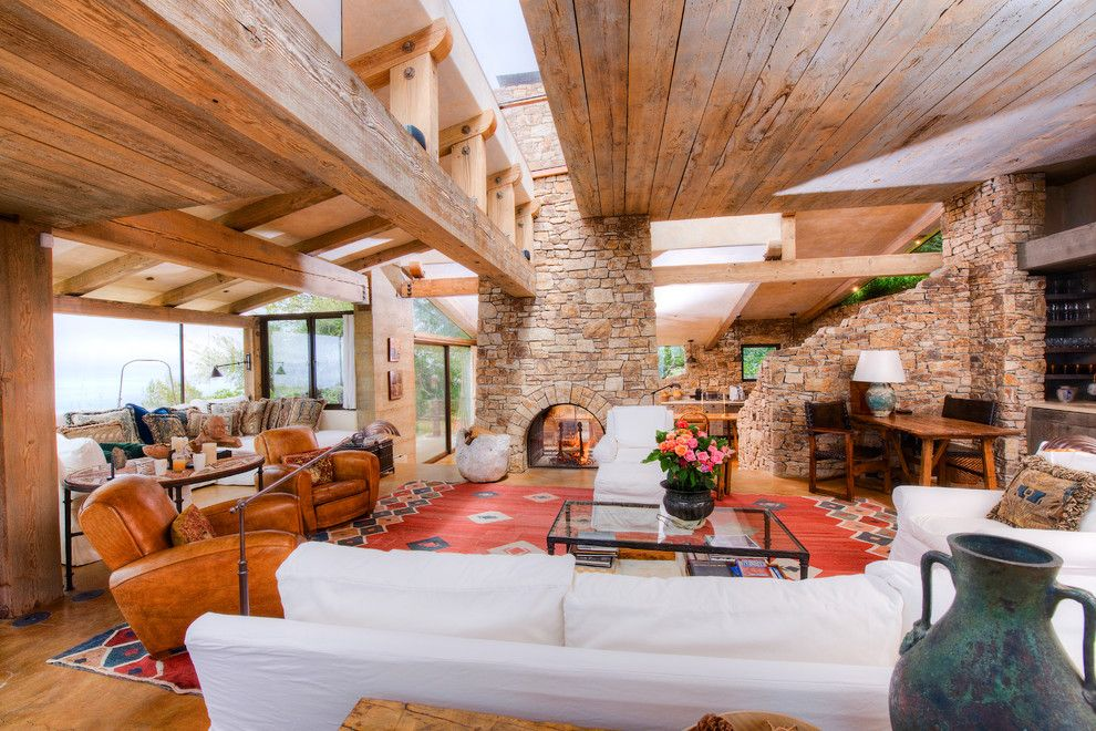 Coastline Realty for a Mediterranean Living Room with a Ocean View and Big Sur Coast Ridge Estate by Decker Bullock Sotheby's International Realty