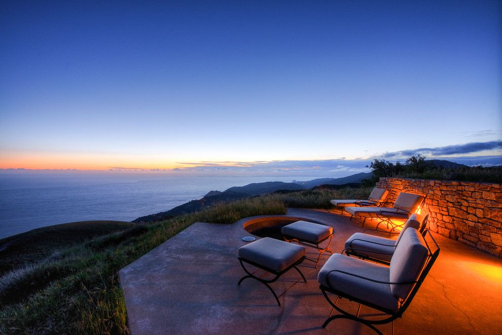 Coastline Realty for a Mediterranean Patio with a Water View and Big Sur Coast Ridge Estate by Decker Bullock Sotheby's International Realty