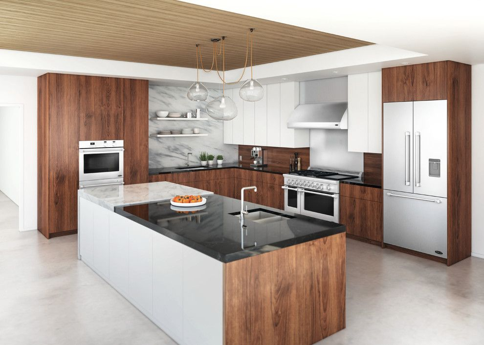 Cobb County Tractor for a Contemporary Kitchen with a Wood Cabinets and Dcs by Fisher & Paykel by Dcs by Fisher & Paykel