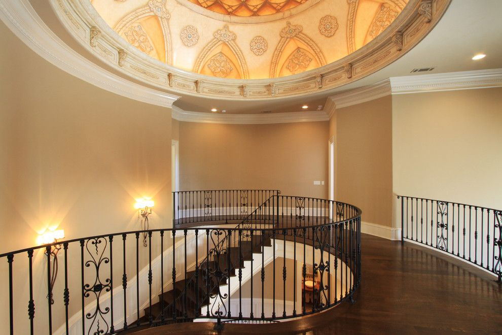 Cobb County Tractor for a Traditional Hall with a Johns Creek and Luxury Interiors by Alex Custom Homes, Llc