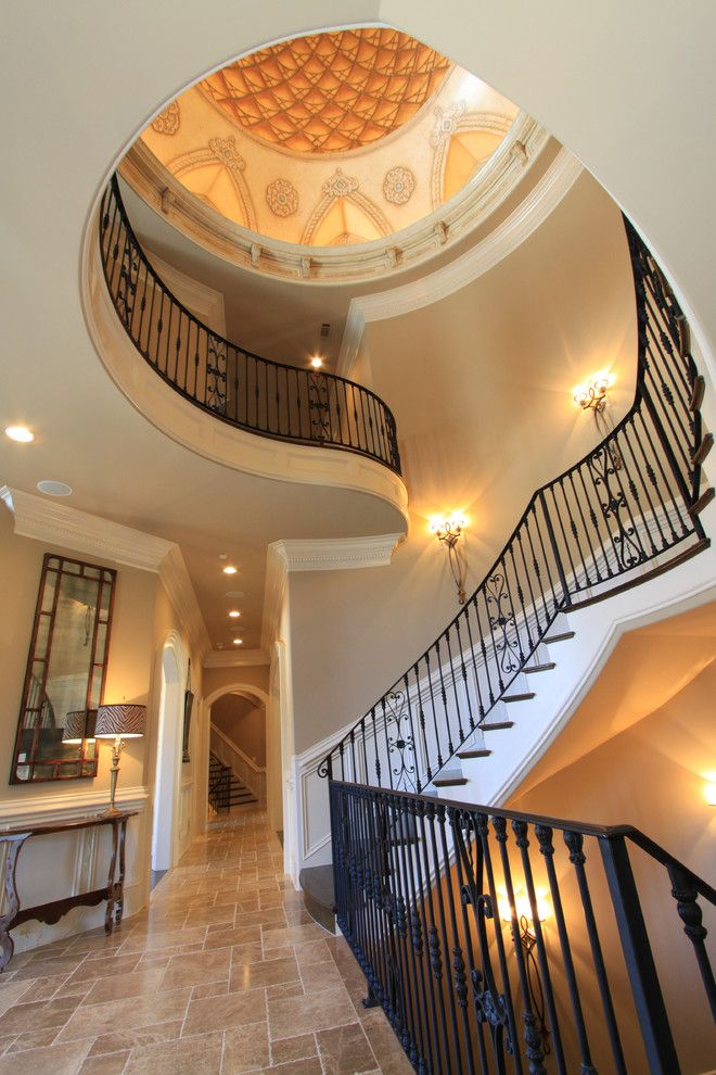 Cobb County Tractor for a Traditional Staircase with a Suwanee and Luxury Interiors by Alex Custom Homes, Llc