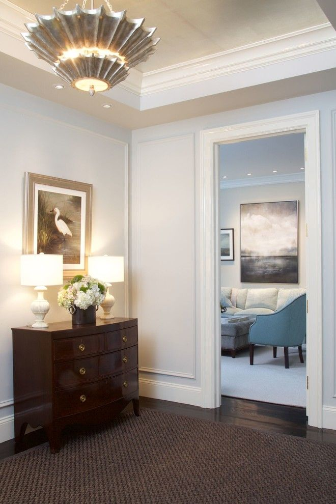 Cobb County Tractor for a Transitional Entry with a Park Ave and Park Ave by Ken Gemes Interiors