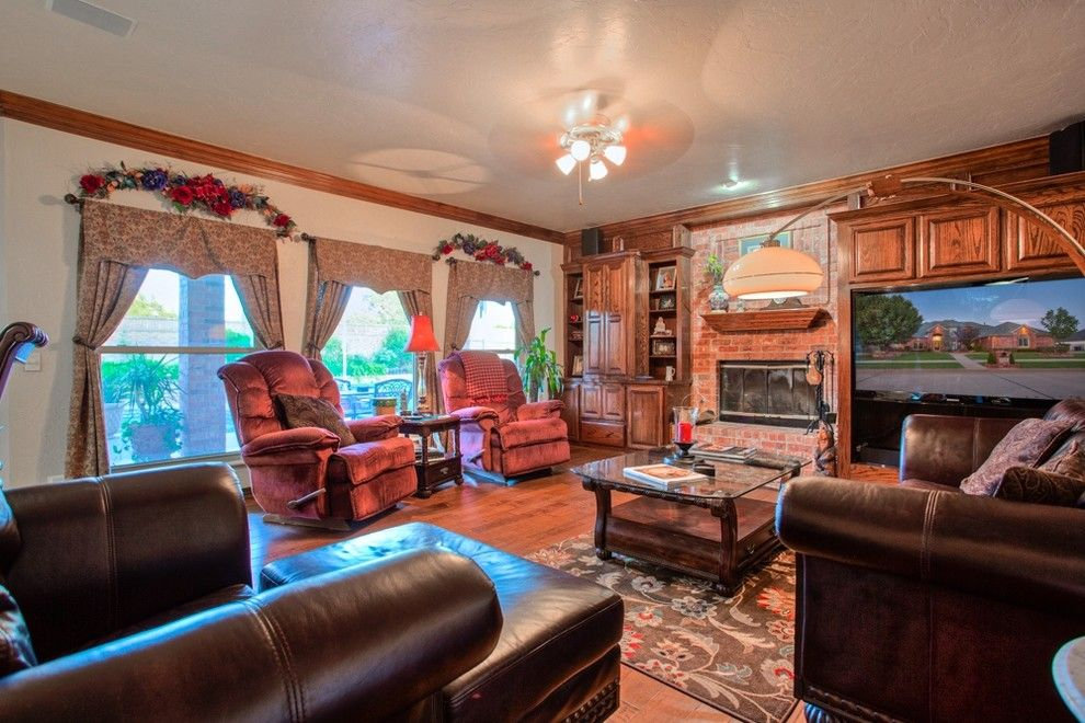 Cobblestone Realty for a Traditional Living Room with a Private and 12604 Flagstone Ct Nw Okla City   Wyatt Poindexter Kw Elite by Wyatt Poindexter of Keller Williams Elite