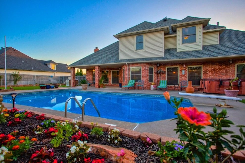 Cobblestone Realty for a Traditional Pool with a Oklahoma City and 12604 Flagstone Ct Nw Okla City   Wyatt Poindexter Kw Elite by Wyatt Poindexter of Keller Williams Elite