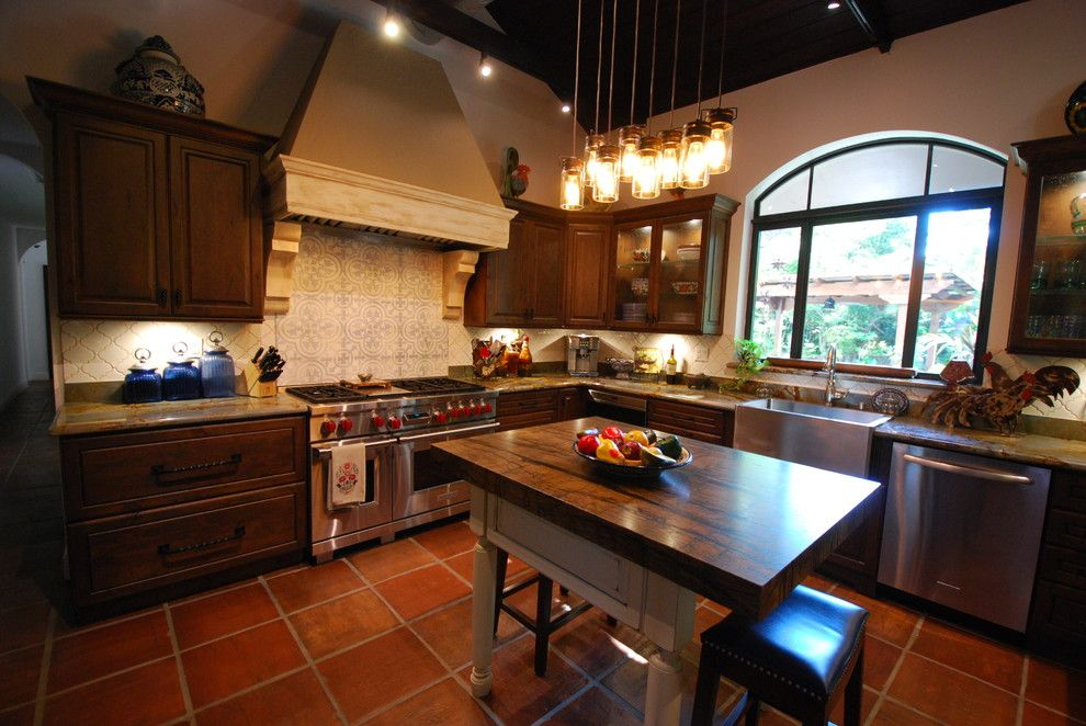 Coconut Grove Theater for a Rustic Kitchen with a Elegant Kitchen and Coconut Grove Rustic Kitchen by Eleet Fine American Cabinetry
