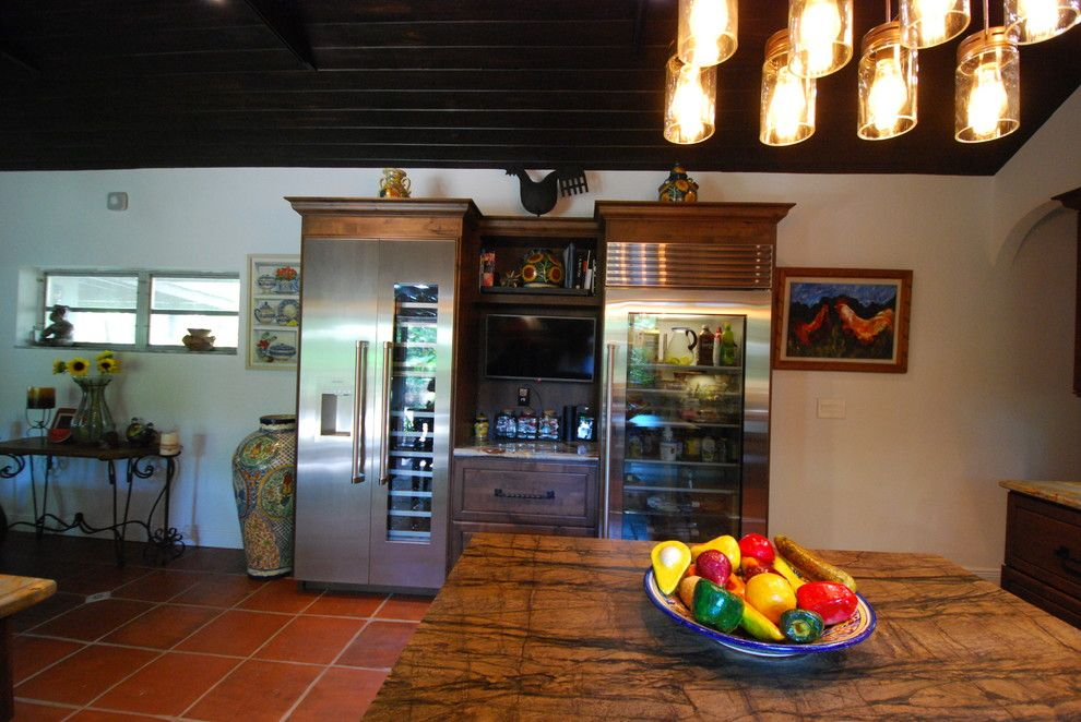 Coconut Grove Theater for a Rustic Kitchen with a Kitchen Cabinetry and Coconut Grove Rustic Kitchen by Eleet Fine American Cabinetry