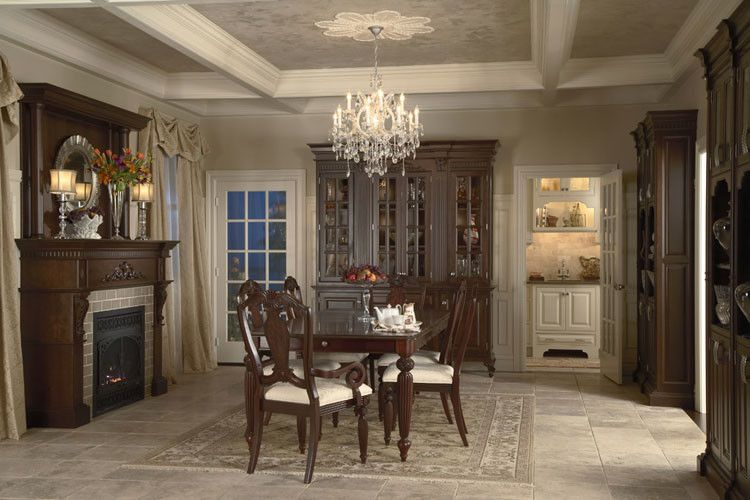 Coggin for a Traditional Kitchen with a Dining Room and Medallion Cabinets by Coggin Brothers, Inc.