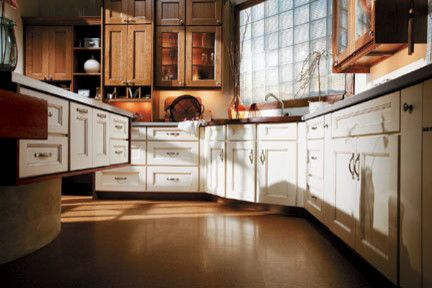 Coggin for a Transitional Kitchen with a Island and Medallion Cabinets by Coggin Brothers, Inc.