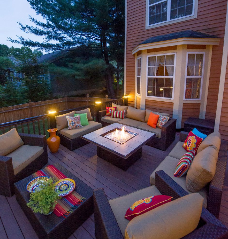College Basketball Court Dimensions for a Contemporary Deck with a Entertaining Space and Patios and Decks by Razzano Homes and Remodelers, Inc.
