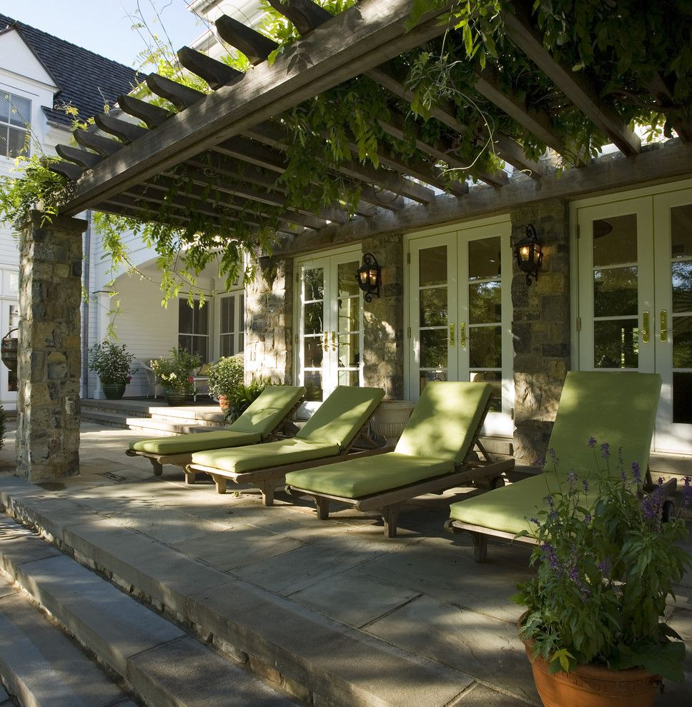 Colleton River Plantation for a Traditional Patio with a Vines and Winston Farm by Cross River Design, Inc.