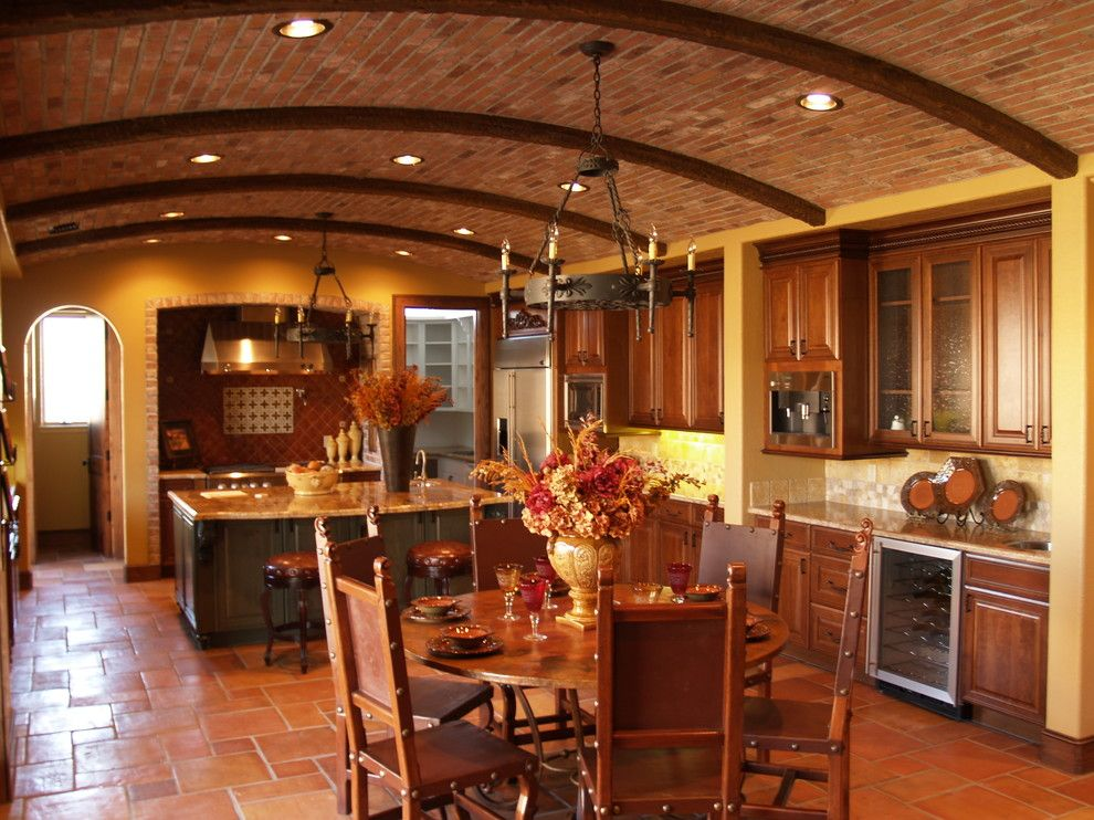 Colony Club Nyc for a Mediterranean Kitchen with a Glass Front Cabinets and Country Club at the Fort by California Cabinets