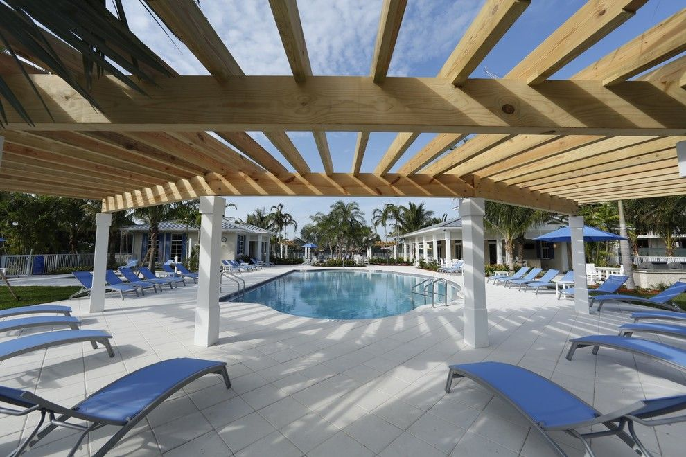 Colony Realty for a Beach Style Patio with a Club House and Bay Colony by One Ocean Drive Realty