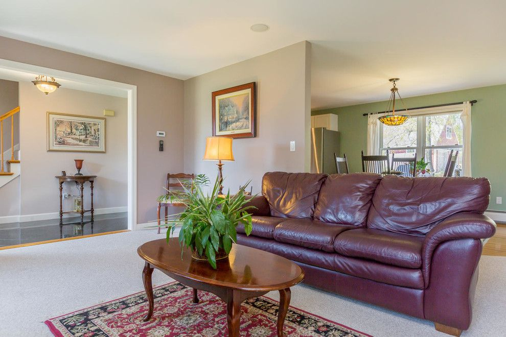 Colony Realty for a Traditional Living Room with a Coastal and 1 Old Colony Lane, Scarborough, Maine by Corki Gray, Broker, Keller Williams Realty