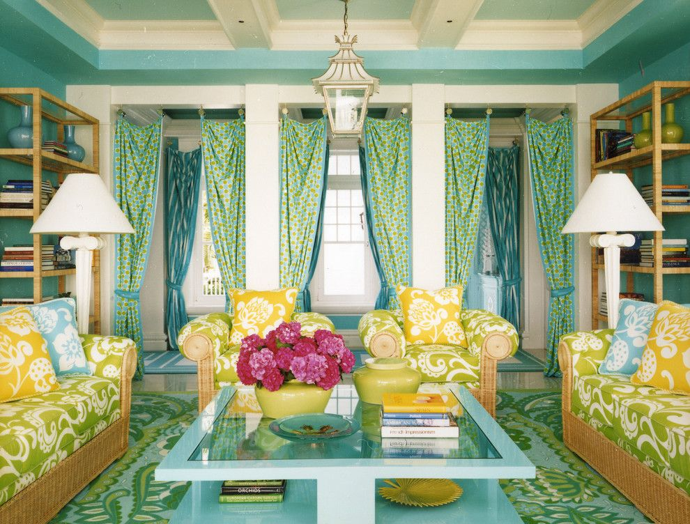 Coloredge for a Contemporary Living Room with a Bookcase and Seaside by Anthony Baratta Llc