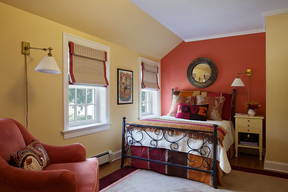 Coloredge for a Traditional Bedroom with a Reading Lamp and Go to Your Room! (Is That Punishment???) by B Fein Interiors Llc