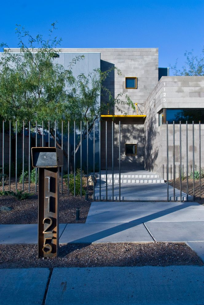 Concrete Masonry Unit for a Contemporary Exterior with a Arizona and 13th Avenue Residence by Repp + Mclain Design and Construction