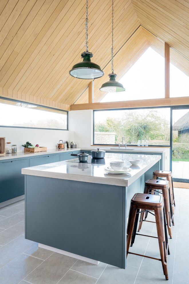 Concrete Masonry Unit for a Contemporary Kitchen with a Contemporary Kitchen and the Vine House by Sustainable Kitchens