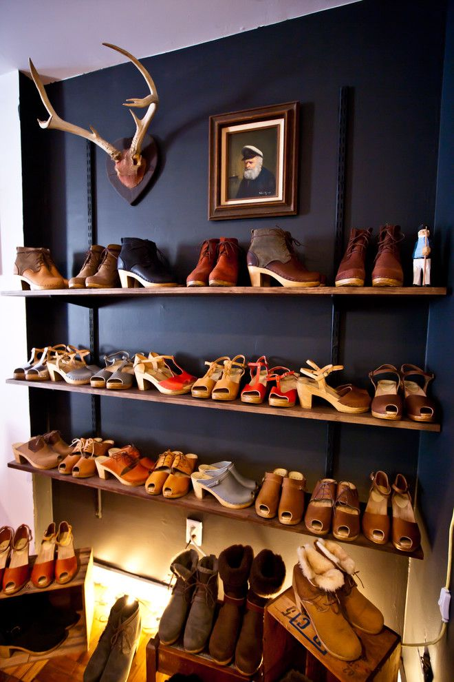 Conex Box Homes for a Eclectic Closet with a Shoe Showroom and Isobel Schofield by Chris a Dorsey Photography