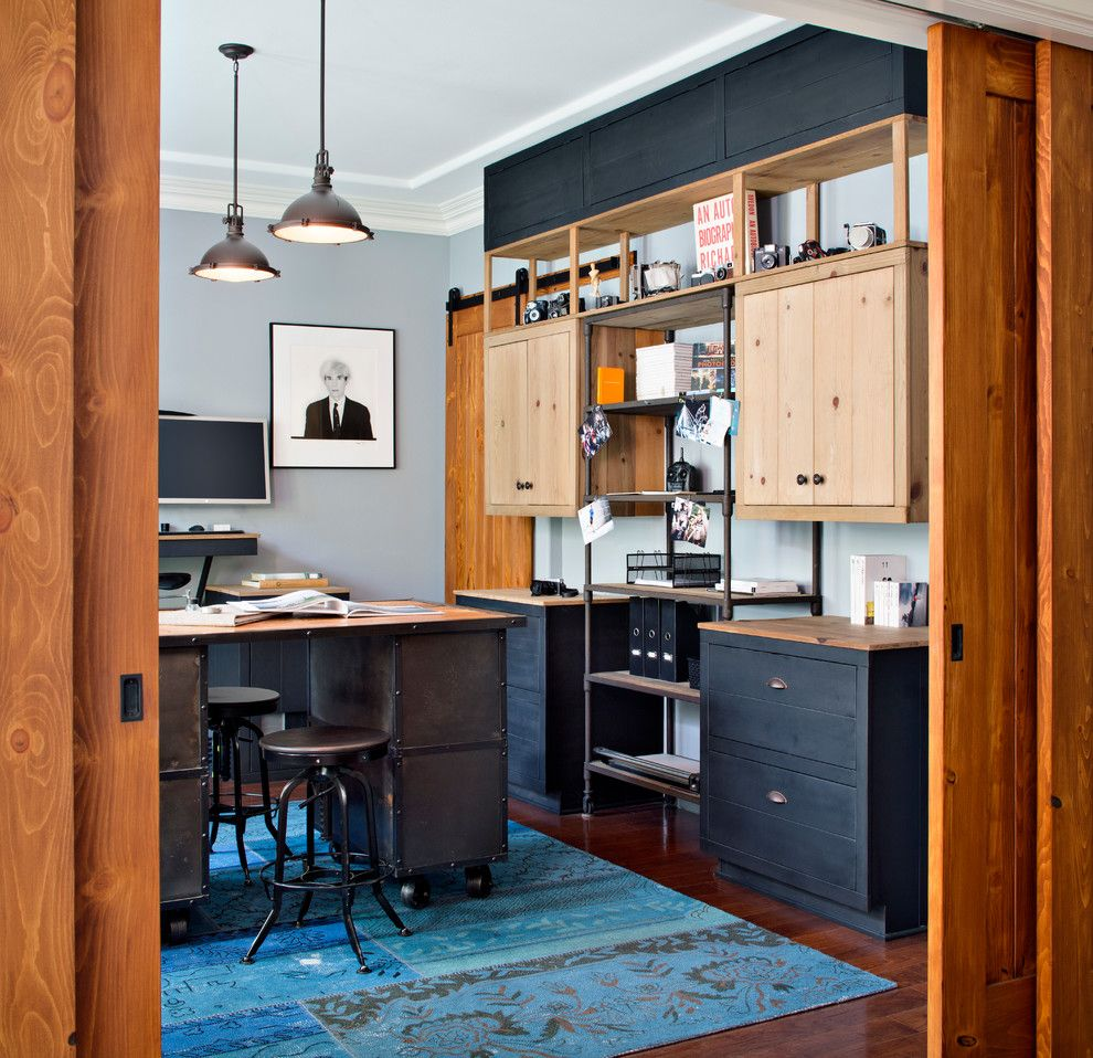 Conex Box Homes for a Industrial Home Office with a Hip and Caudor Street by Cm Natural Designs