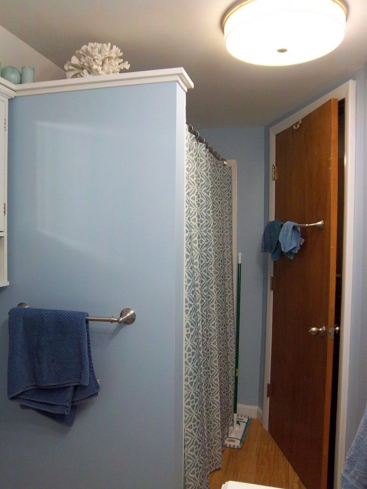 Congoleum for a Traditional Bathroom with a Partial Wall and Kohler Master Bathroom   Hamel by Lowe's of Auburn, Me