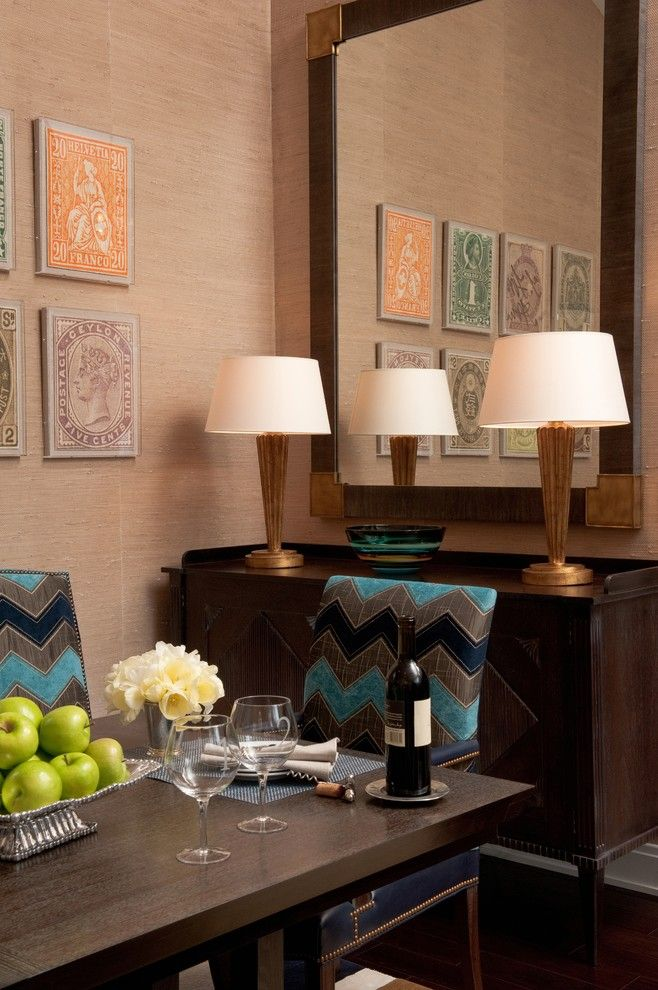 Connells Furniture for a Eclectic Dining Room with a Master Suite and a Client's Story: The Bachelor Pad by Jennifer Connell Design