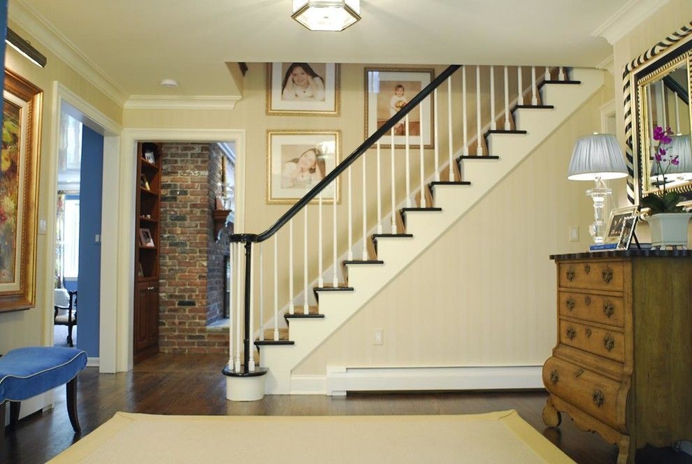 Connells Furniture for a Traditional Entry with a Entry and a Family Affair: Curb Appeal by Jennifer Connell Design