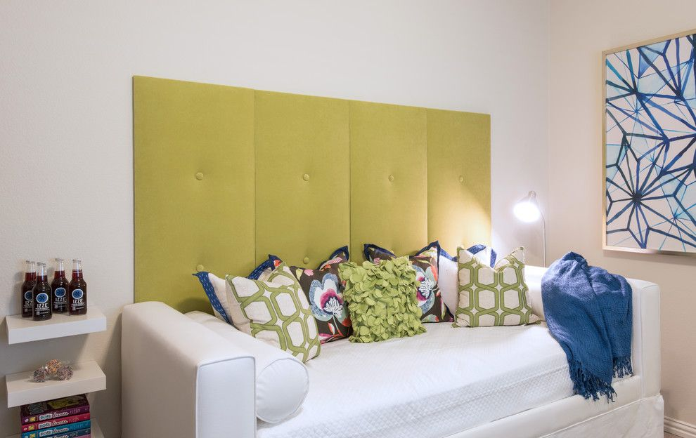 Connells Furniture for a Transitional Kids with a Wall Upholstery and Colorful Classic Abode by Traci Connell Interiors