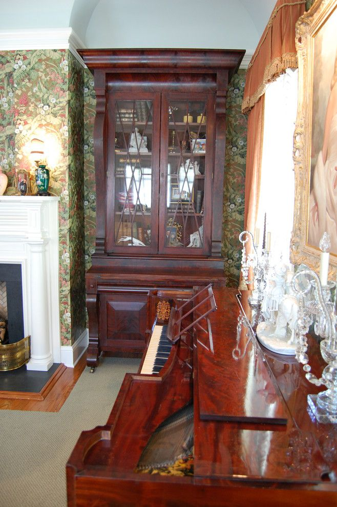 Conservatory at Druid Hills for a Traditional Living Room with a Antiques and Druid Hills Residence by Richard Burgess