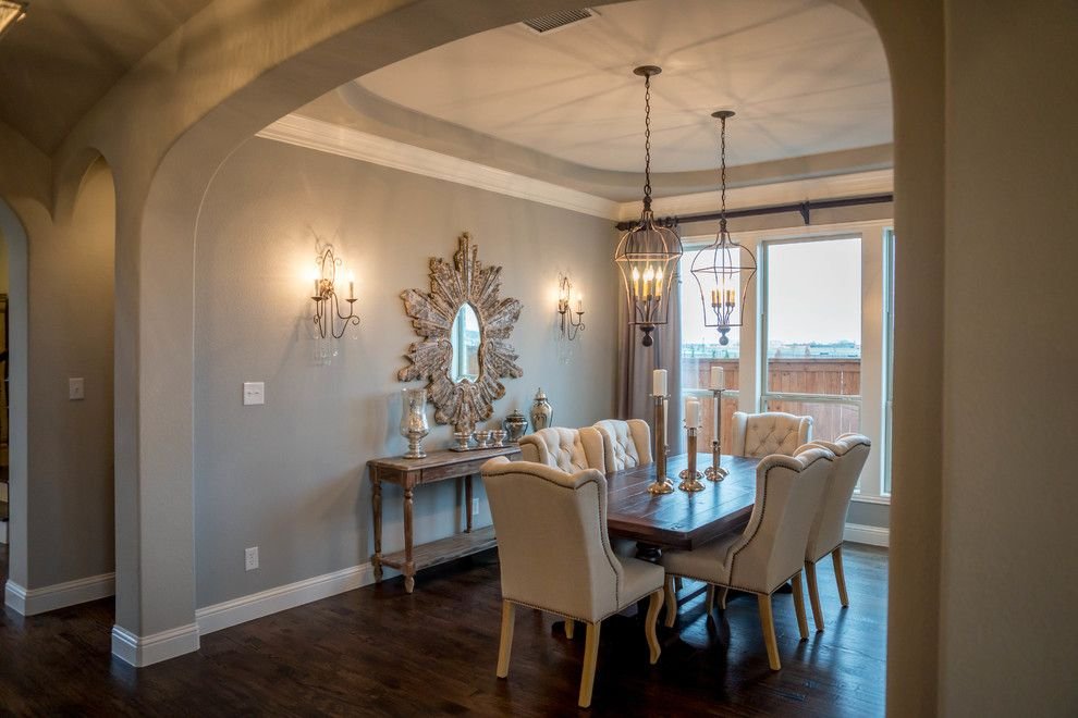 Consignment Furniture Dallas for a Traditional Dining Room with a Traditional and Light Farms | Shaddock Homes by Shaddock Homes