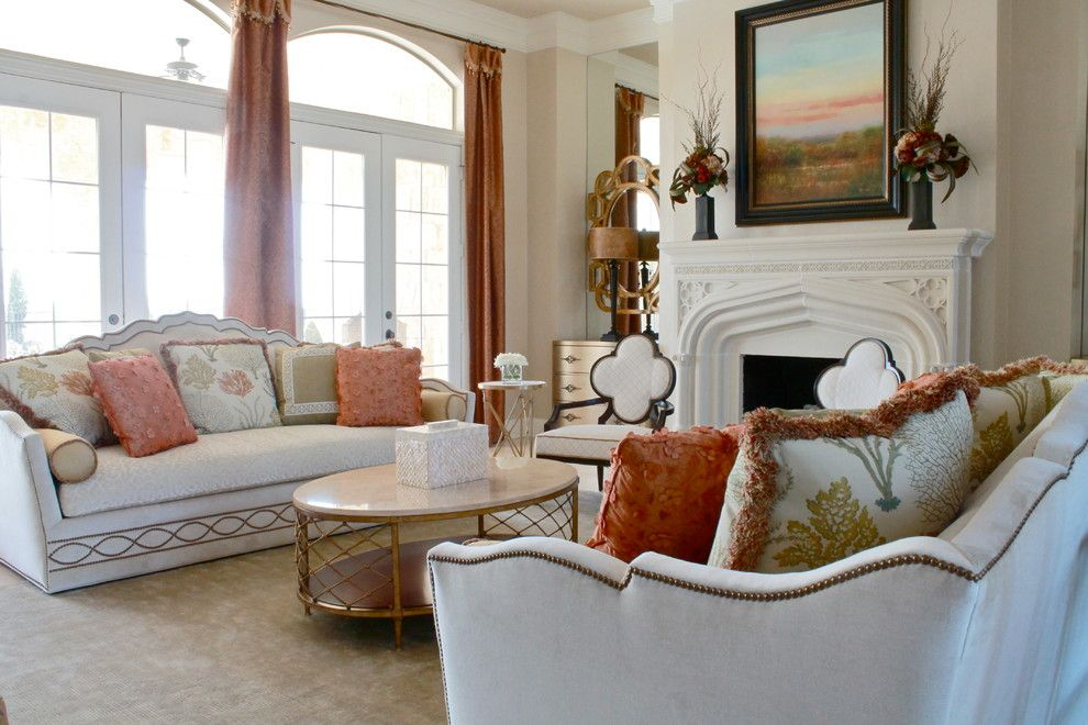 Consignment Furniture Dallas for a Traditional Living Room with a Clover Chairs and Classic and Elegant Rockwall Home by Traci Connell Interiors