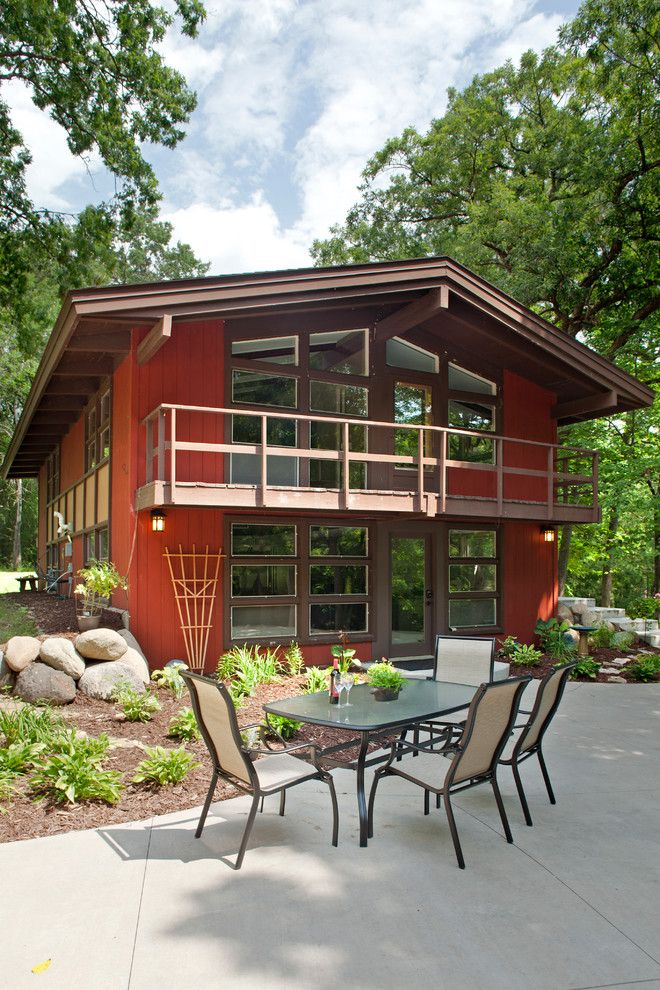 Consignment Furniture Reno for a Midcentury Exterior with a Outdoors and North Oaks   Mid Century Modern Remodel by Bob Michels Construction, Inc.