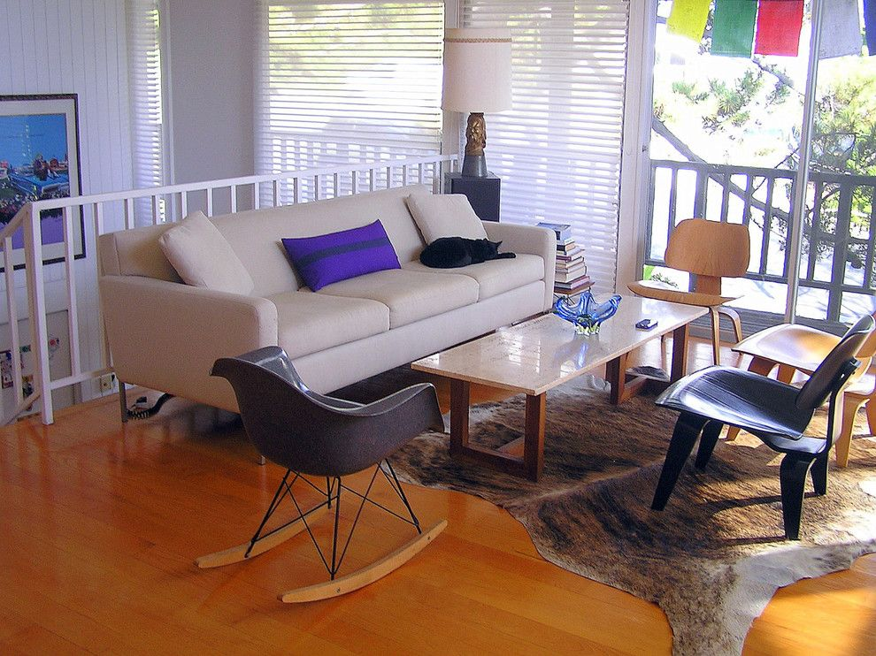 Consignment Furniture Reno for a Midcentury Living Room with a Modern Rocking Chair and Eames Living Room by Lisa Hallett Taylor