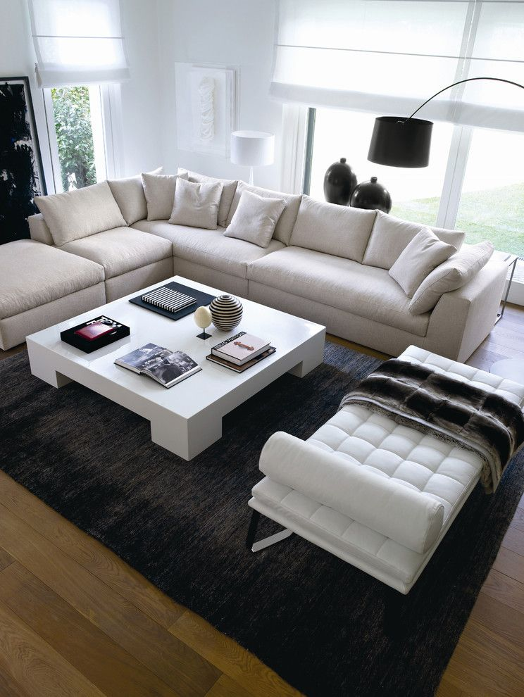 Consignment Furniture Reno for a Modern Spaces with a White Shades and Coffee Table 00609 by Usona