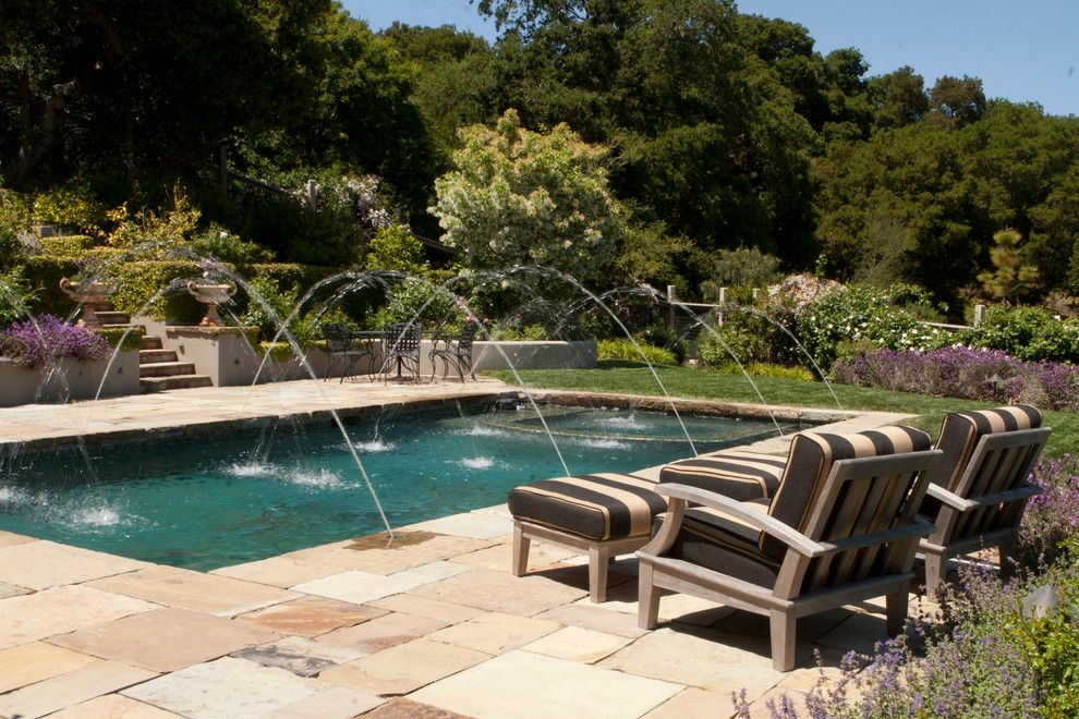 Consignment Furniture Reno for a Traditional Pool with a Mosaic Tile Hot Tub and Blackwell by Design Focus International