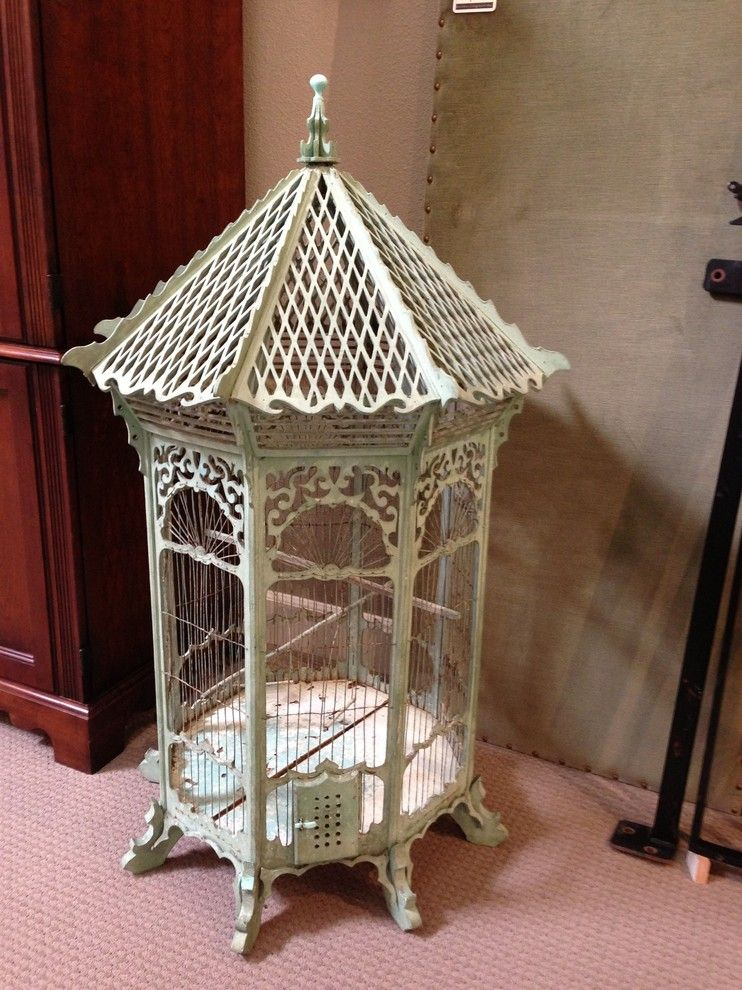 Consignment Furniture Tulsa for a Traditional Spaces with a Vintage Furniture and Antique Bird Cage by Ya Ya's Furniture Consignment Shop