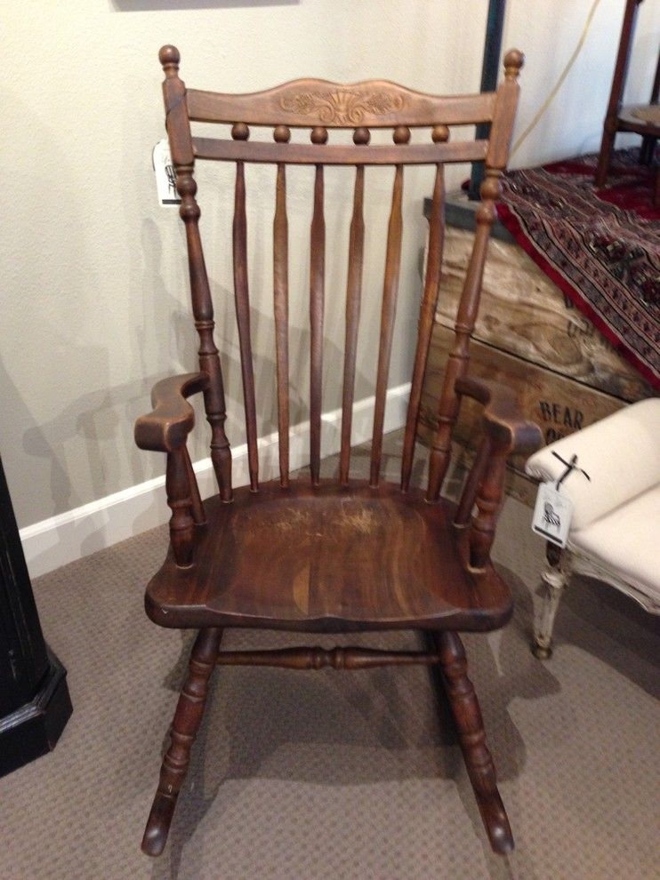 Consignment Furniture Tulsa for a Traditional Spaces with a Vintage Furniture and Antique Rocking Chair by Ya Ya's Furniture Consignment Shop