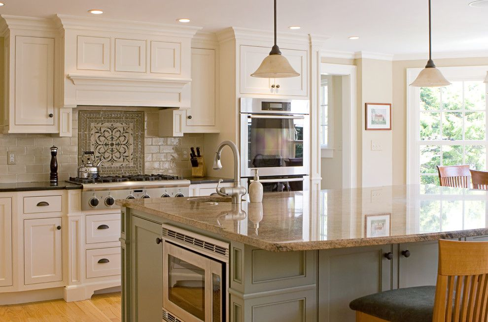 Contra Costa Appliance for a Farmhouse Kitchen with a Painted and White Owl Drive Kitchen by La Costa Cabinets & Design