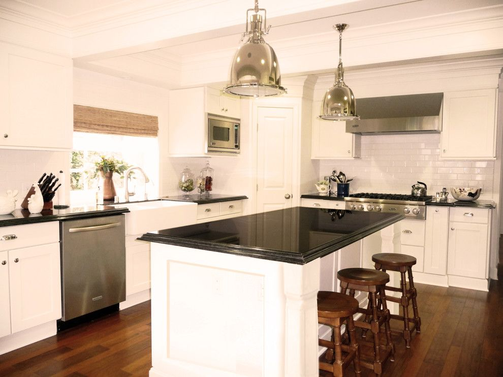 Cookson Doors for a Traditional Kitchen with a Black Granite and Bright White Kitchen by Courtney Blanton Interiors, Cid