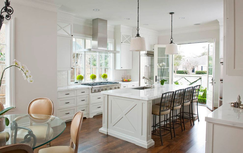 Cookson Doors for a Traditional Kitchen with a Pendants and Up14 by Ellen Grasso & Sons, Llc