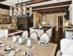 Coors Light Logo for a Rustic Dining Room with a Neutral Colors and Lottery Home 2011 - the Mackenzie by Marcson Homes Ltd.