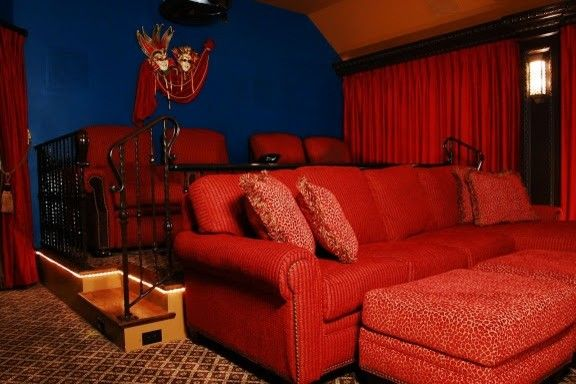 Copper Creek Theater for a Contemporary Home Theater with a Classic and Theater Room by Kaleidoscope Studio of Interior Design